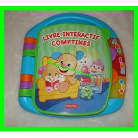 Livre interactif comptines Fisher-Price
