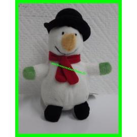 Mini peluche de Noël Bonhomme de neige