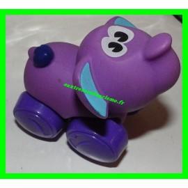 Eléphant roulant violet Playskool
