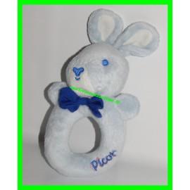 Hochet lapin bleu Picot