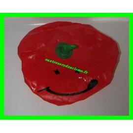 Bonnet de douche rouge / Charlotte de bain tomate