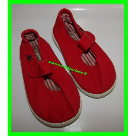 Chaussures basses / Baskets / Sneakers en toile rouges Victoria P. 23