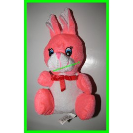 Peluche lapin rose fluo Sandy