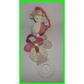 Jouet / Jeu de poussette ou de transat à accrocher avec anneau de dentition à mordiller Lola la vache Noukie's