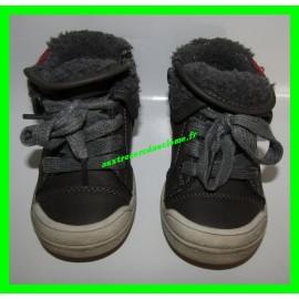 Chaussures montantes grises P. 21 Kitchoun