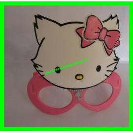 Masque / Lunettes roses en plastique Hello Kitty