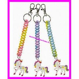 Porte-clés licorne avec bracelet extensible