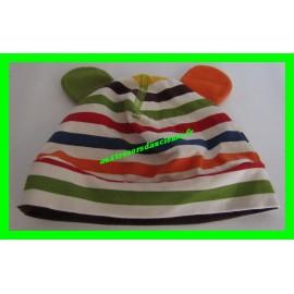 Bonnet à rayures 2-4 mois / 62 cm avec oreilles H&M