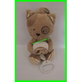 Doudou / carillon chat marron Mots d'Enfants