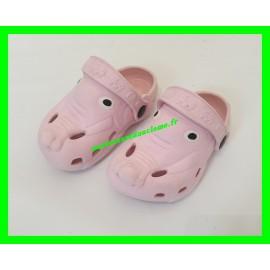 Sabots rose pâle P. 21 style Crocs