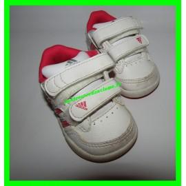 Baskets blanches et roses Adidas P. 18 semelle OrthoLite