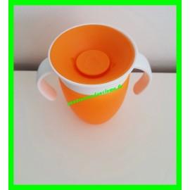 Tasse d'apprentissage anti-fuites orange Munchkin