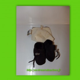 Chaussons P. 22-23 fourrés marrons Easy Peasy eco-friendly Blublu chat cuivre met