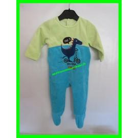 Pyjama 12 mois bleu et vert Gémo Baby