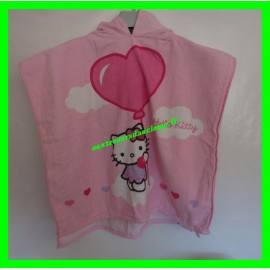 Poncho / Cape de bain rose Hello Kitty Sanrio 100 % Coton
