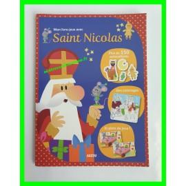 Mon livre-jeux avec Saint Nicolas Auzou avec + de 100 autocollants