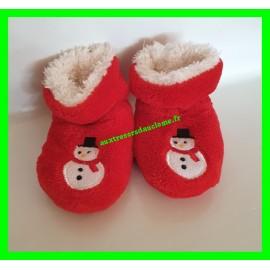 Chaussons de Noël rouges