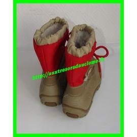 Après-ski / Bottes / Boots de neige beiges et rouges P. 31-32 Snowarm