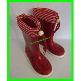 Bottes de pluie / en caoutchouc rouges P. 30 DPAM