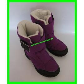 Après-ski / Bottes / Boots de neige violettes P. 32 Essensol Quechua Novadry Strathermic Decathlon