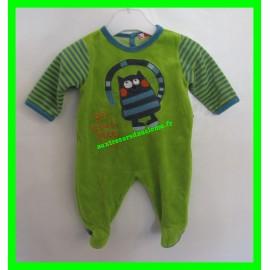 Pyjama vert et bleu 1 mois Dpam...