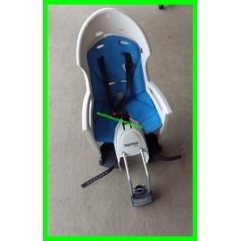 Siège vélo gris et bleu Hamax Smiley pour porte-bagages