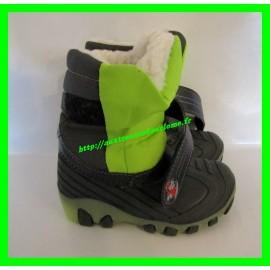 Après-ski / Bottes / Boots de neige vertes et noires P. 24 lumineuses