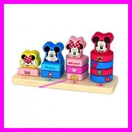 Anneaux à empiler en bois Mickey et ses amis Disney Baby