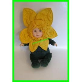 Poupée fleur verte et jaune Anne Geddes