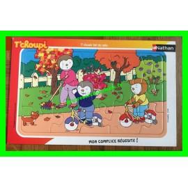 Puzzle en carton 15 pièces T'choui fait du vélo Nathan