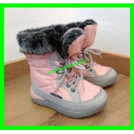 Boots / Bottes de neige / Après-ski P. 23 waterproof roses et grises Lupilu