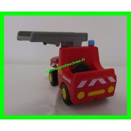 Camion de Pompier avec Echelle Pivotante Playmobil 1.2.3 6967 (Vendu sans le personnage)