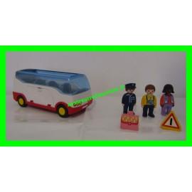 Autocar de voyage Playmobil 1.2.3 6773 (Manque 1 personnage + 3 bagages)