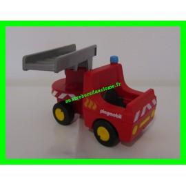 Camion de pompier avec échelle pivotante 6967 Playmobil 1.2.3