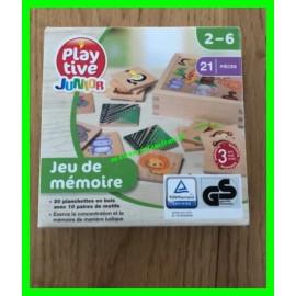 Jeu de mémoire en bois 21 pièces Playtive Junior