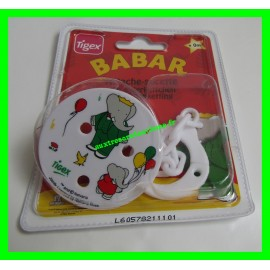 Attache-sucette Babar Tigex