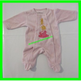 Pyjama naissance / 50 cm rose Les Chatounets