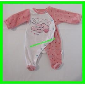 Pyjama Naissance / 0 mois / 50 cm rose et blanc #bébé dort ! Absorba