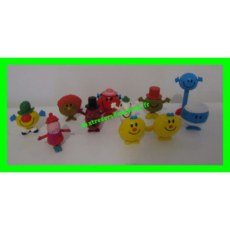 Lot de 10 figurines Monsieur Madame + 1 figurine Peppa Pig