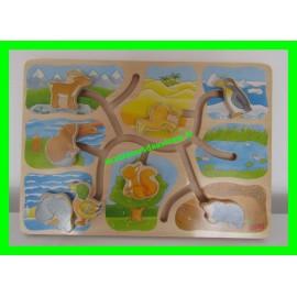 Casse-tête / Puzzle en bois animaux Goki