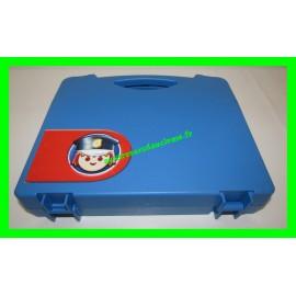 Valisette / Mallette bleue de police avec casiers de rangement Playmobil