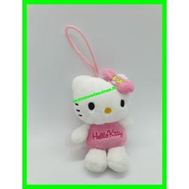 Mini peluche / Doudou Hello Kitty noeud rose oeuf de Pâques à suspendre / porte-clés à accrocher