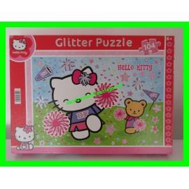 Glitter Puzzle / Puzzle 104 pièces à paillettes Hello Kitty Pom-Pom Girl Sanrio Clementoni
