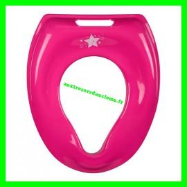 Réducteur de WC rose Tom et Zoé