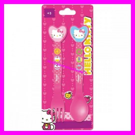 Set 2 couverts Hello Kitty
