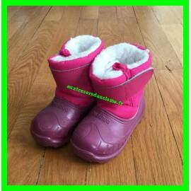 Après-ski / Bottes de neige / Boots roses Decathlon P.18/19