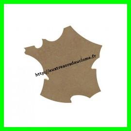 Support en bois medium Carte de France à décorer Gomille 26 cm