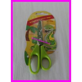 """Paire de ciseaux imprimé animal vert 5"""" 13 cm motif serpent"""