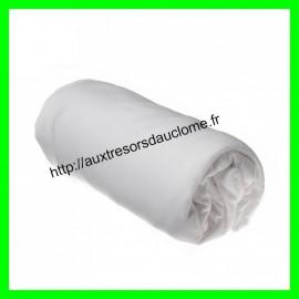 Drap housse blanc 60 x 120 cm