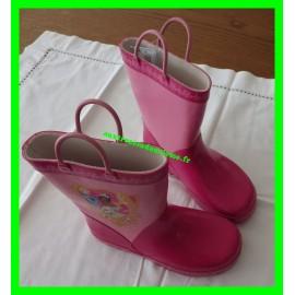 Bottes de pluie roses en caoutchouc Disney Princess P. 29-30